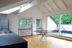 Progettazione Interni, recupero sottotetto in stile moderno | De Leo & Drasnar